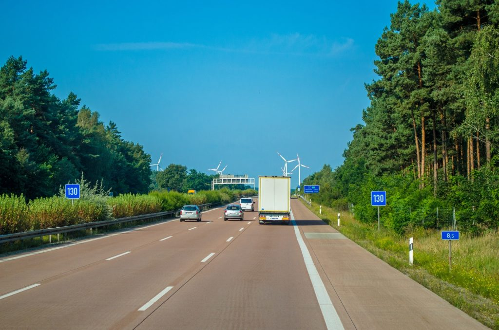 hgv driving on motorway in summer, how can you stay cool?