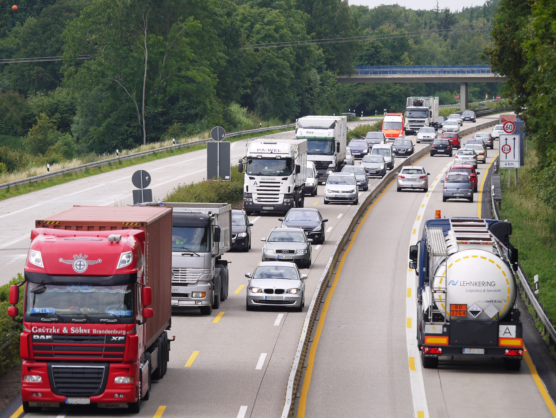 Lorries on motorway, are you ready for smart tachographs
